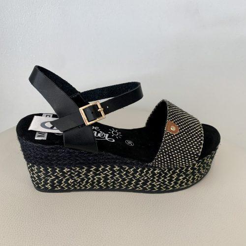 Sandalia negra JULIA